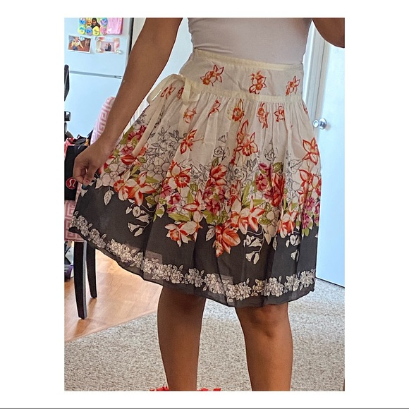Anthropologie Lapis Floral Skirt